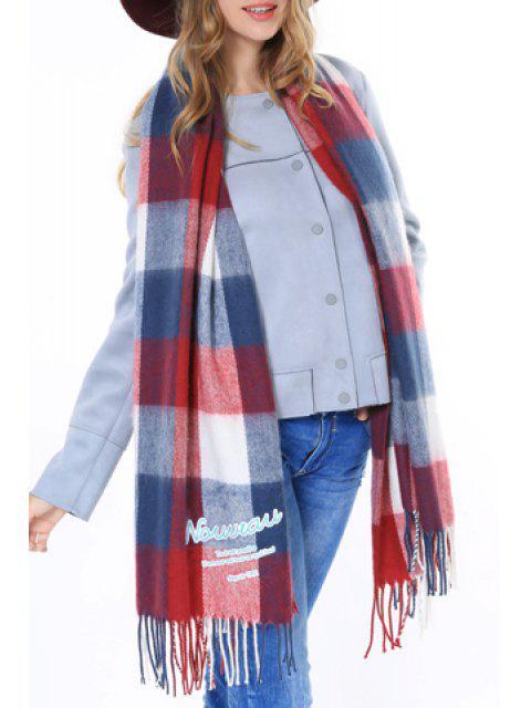 best Chic Various Plaid Pattern Tassel Winter Scarf For Women - RANDOM COLOR PATTERN  Mobile