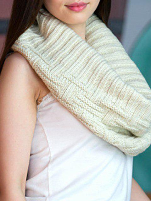 Chic Short Stripe Jacquard Solid Color Knitted Neck Warmer For Women - لون عشوائي  Mobile
