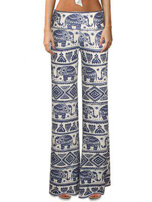 Elephant Print Bell Bottoms - S