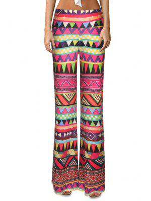 Triangle Pattern Flare Leg Pants - S
