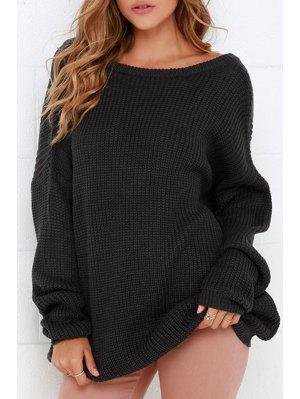 Round Neck Low Back Sweater