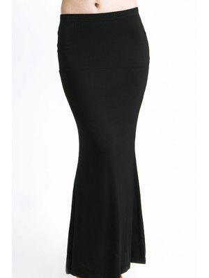 Falda De Color Sólido - Negro - Negro L