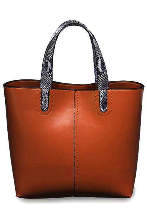 Snake Print PU Leather Zipper Tote Bag 151103204