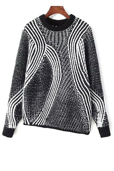 Round Neck Asymmetrical Sweater