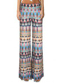 1f5988366c3c9 24% OFF] 2019 High-Waisted Printed Flare Yoga Pants In COLORMIX | ZAFUL