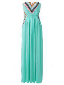 ebd006cffe4 2019 Print Strapless Dillards Dress In GREEN XL