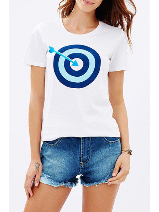 womens Arrow and Target Print T-Shirt - BLUE XS