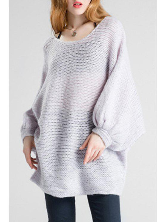 outfit Batwing Sleeve Oversized Sweater - PURPLE ONE SIZE(FIT SIZE XS TO M)