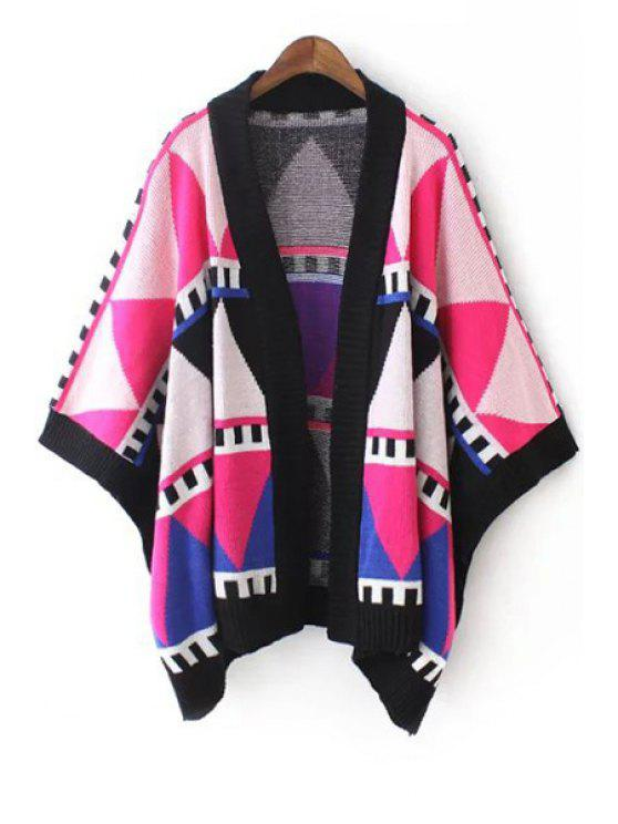 best Printed Ethnic Style Loose Fitting Cape Cardigan - COLORMIX ONE SIZE(FIT SIZE XS TO M)
