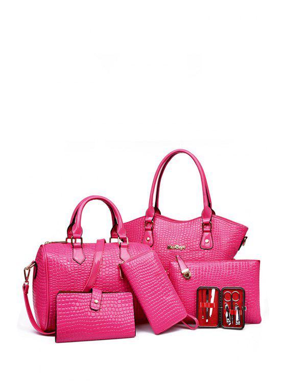Patrón Piedra Sólida Bolsa de tela en color - Rosa
