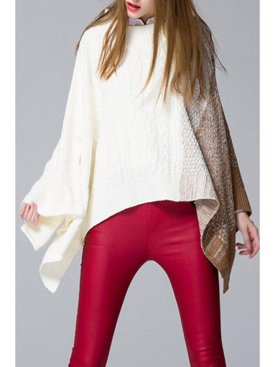 latest Color Block Batwing Sleeve Sweater - KHAKI ONE SIZE(FIT SIZE XS TO M)
