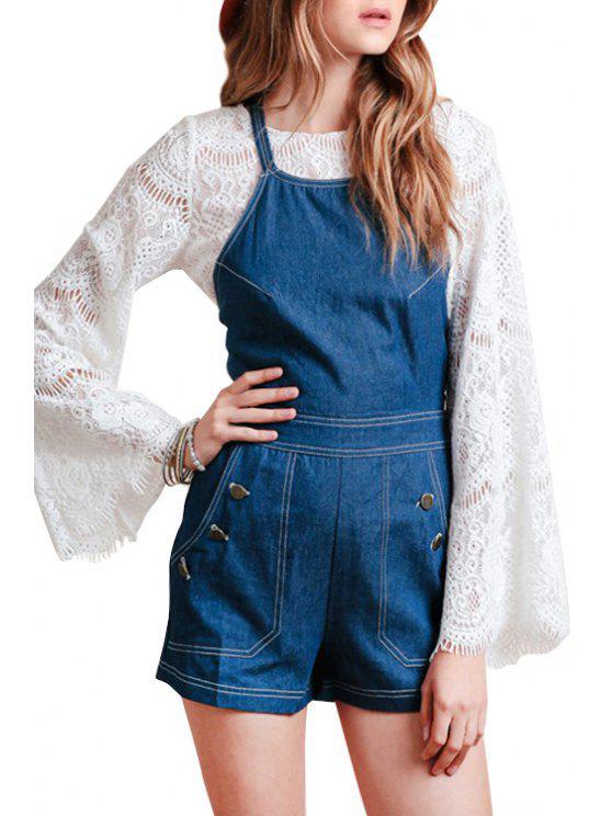 buy Blue Cami Denim Playsuit - BLUE S