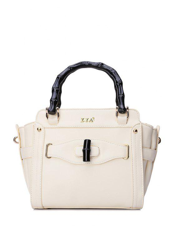 latest Letter Stitching Hasp Tote Bag - OFF-WHITE