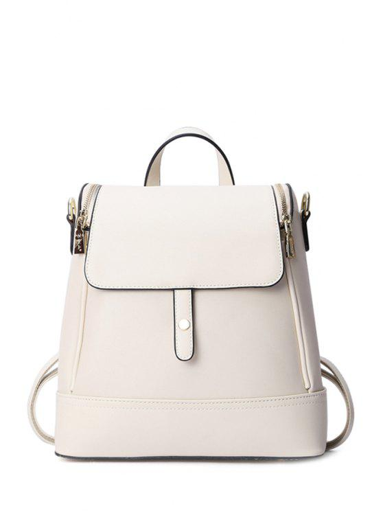 outfit Cover Zipper Candy Color Satchel - WHITE
