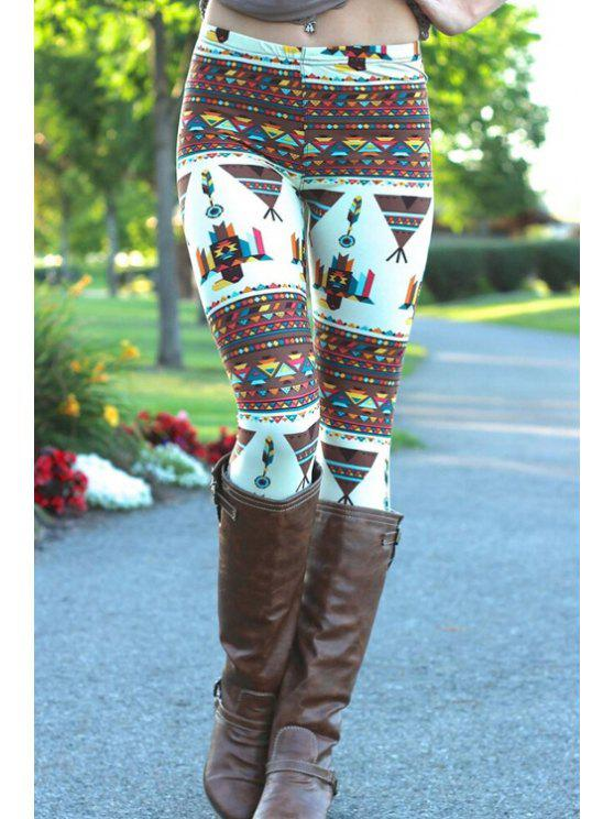 lady Cartoon Print Stretchy Leggings - COLORMIX ONE SIZE(FIT SIZE XS TO M)