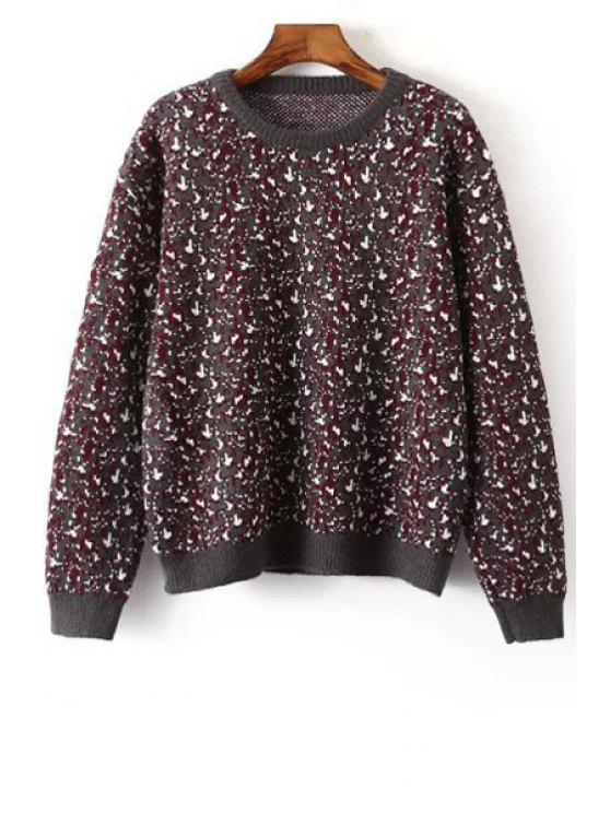 outfits Snow Pattern Long Sleeve Jumper - GRAY ONE SIZE(FIT SIZE XS TO M)