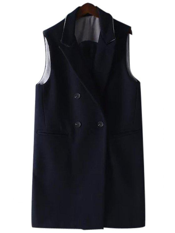 fancy Solid Color Thicken Turn-Down Collar Waistcoat - CADETBLUE M