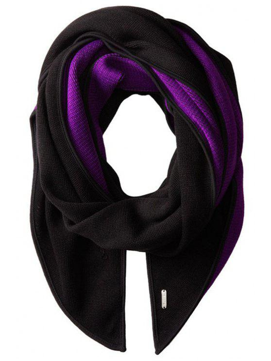 new Two Color Matching Scarf - BLACK