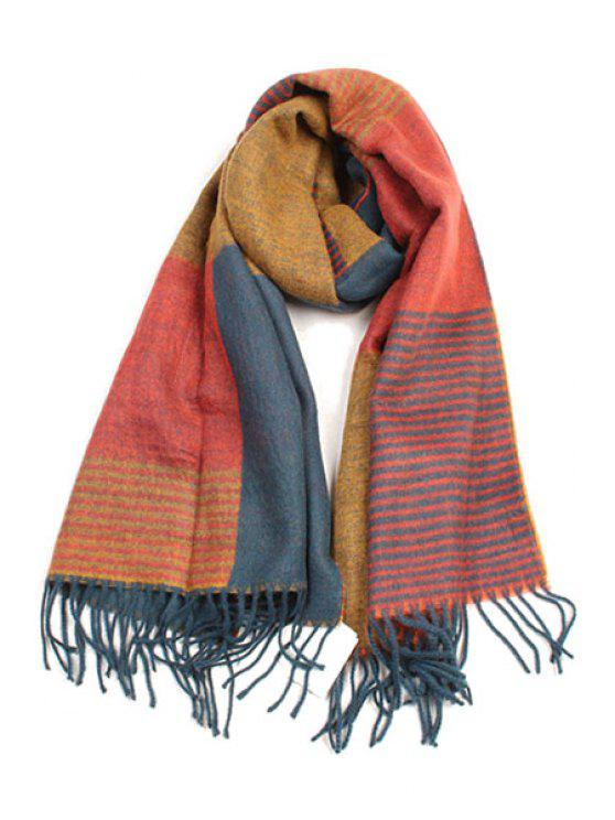 unique Pachwork Pattern Tassel Scarf - JACINTH