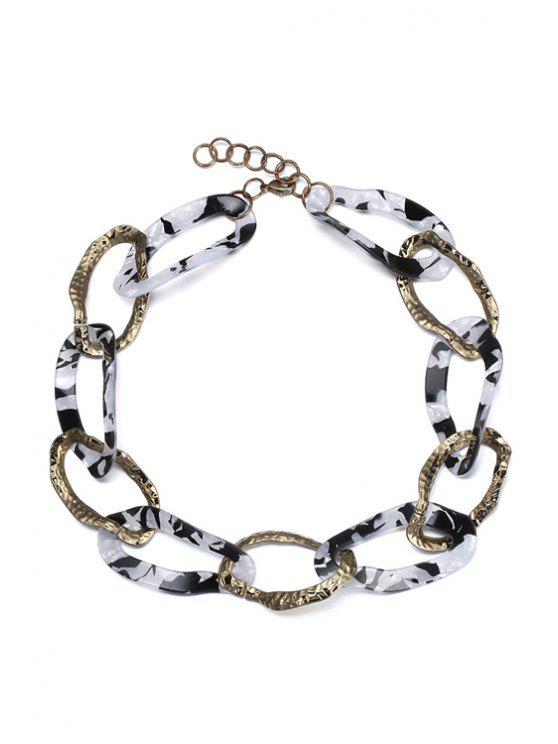 chic Hollow Out Statement Necklace - WHITE