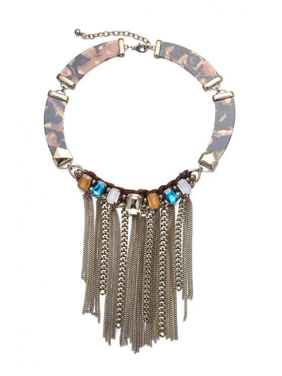 fancy Alloy Tassel Jewelry Necklace - COFFEE