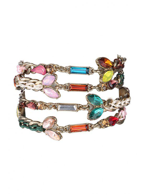 ladies Weaving Jewelry Chain Bracelet - COLORMIX