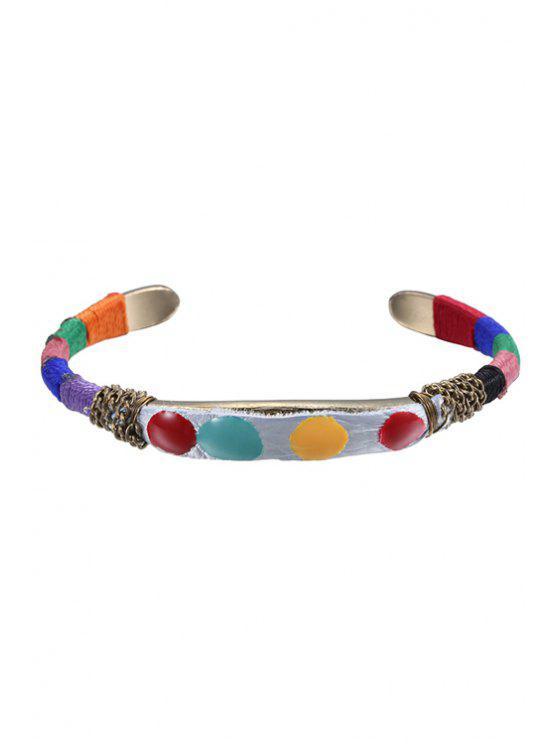 women Colorful Ethnic Cuff Bracelet - COLORMIX