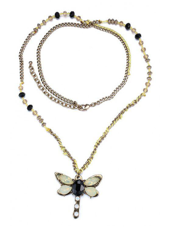 unique Butterfly Jewelry Sweater Chain - YELLOW