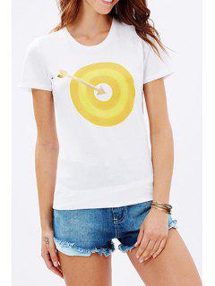 Arrow And Target Print T-Shirt - Yellow S