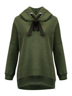 Green Sherpa Pullover Hoodie - Army Green Xl