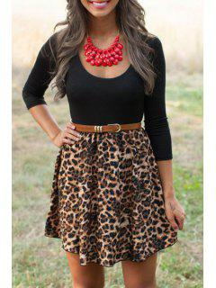 Leopard Print Fit And Flare Dress - Leopard S