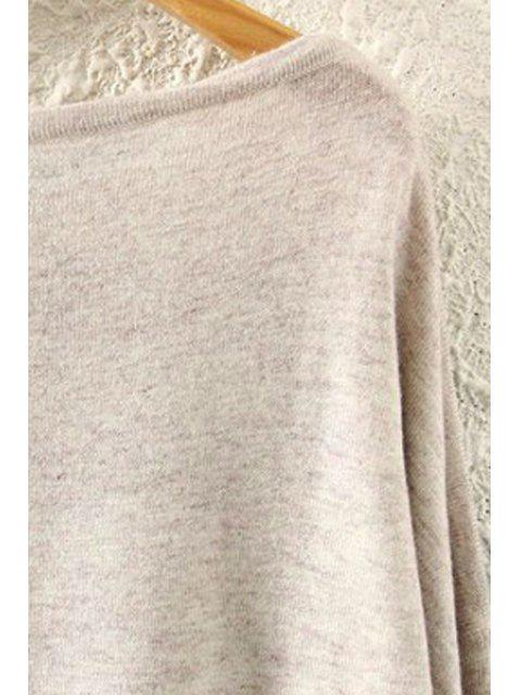 shops Squirrel Print Long Sleeve Jumper - BEIGE ONE SIZE(FIT SIZE XS TO M) Mobile
