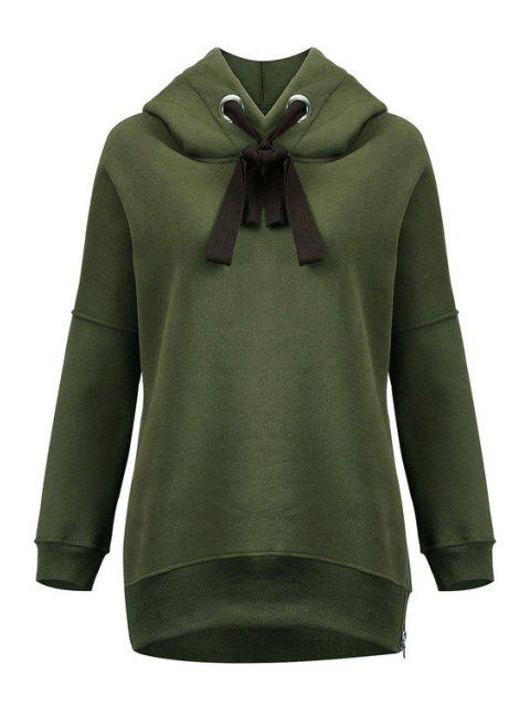 fancy Green Sherpa Pullover Hoodie - ARMY GREEN XL Mobile