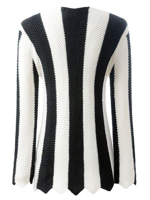 shops Black and White Striped Long Sleeve Jumper - WHITE AND BLACK M Mobile