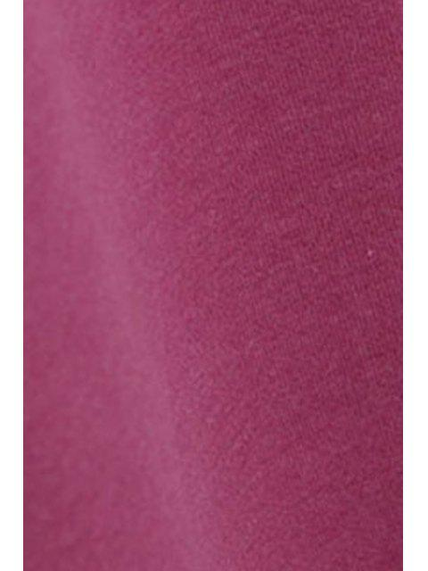 fancy Long Sleeve Side Slit Sweatshirt Dress - RED M Mobile