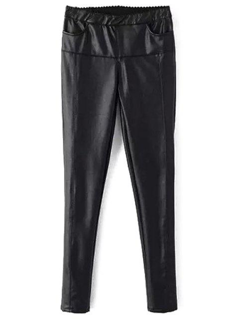 new Black Skinny Faux Leather Pants - BLACK L Mobile