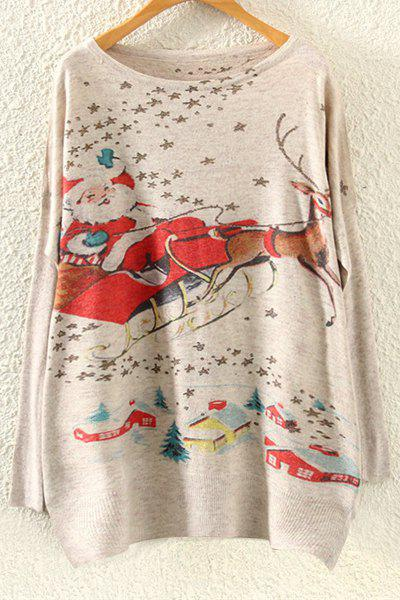 Christmas Deer Print Sweater