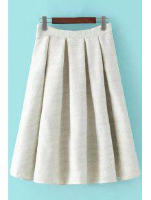 high waisted a line winter skirt white skirts l zaful