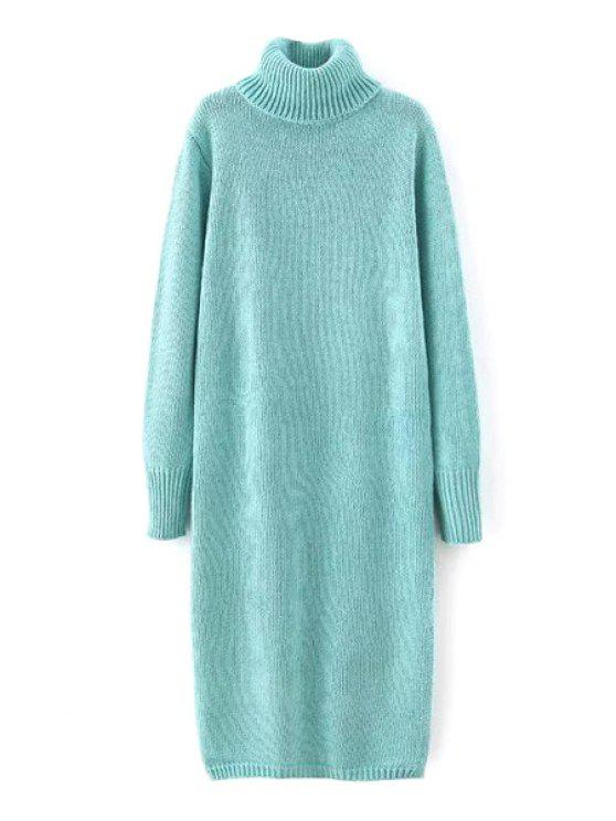 6cbfdb94e43 39% OFF  2019 Solid Color Long Sleeve Turtle Neck Sweater Dress In ...