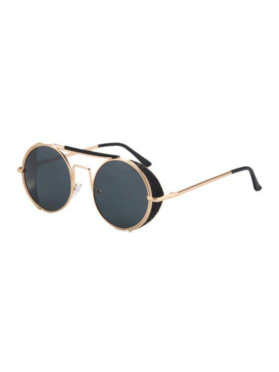 Retro Round Sunglasses - Negro