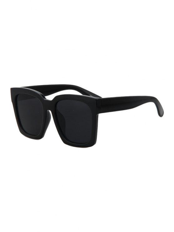 chic Black Quadrate Sunglasses - BLACK