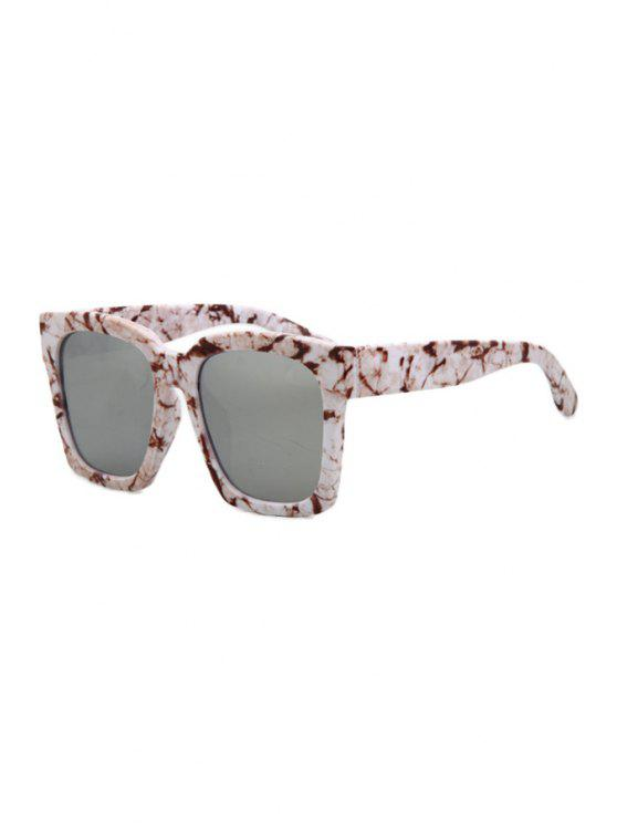 unique Stone Pattern Quadrate Sunglasses - WHITE