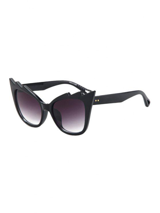 hot Black Cool Cat Eye Sunglasses - PURPLE