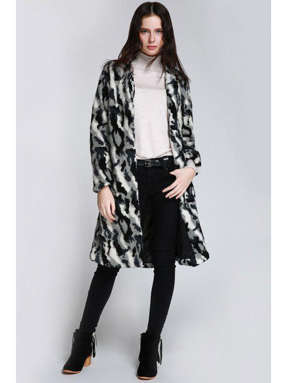 lady Neon Rose Get Shaggy Coat - BLACK S