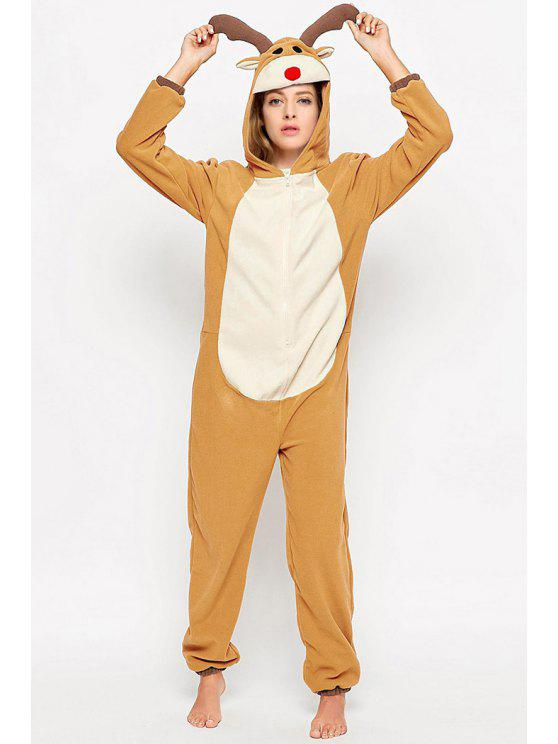 32% OFF  2019 Warm Cartoon Reindeer Cosplay Onesies Sleepwear In ... fc3a60314