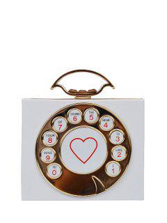 Téléphone Coeur Imprimer Sac De Soirée - Blanc