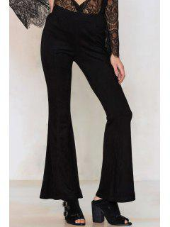 Flare Leg Black Pants - Black 2xl
