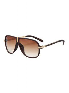 Big Frame Solid Color Sunglasses - Wine Red