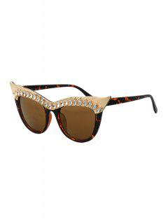 Rhinestone Multicolor Cat Eye Sunglasses