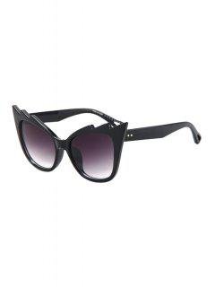Black Cool Cat Eye Sunglasses - Purple